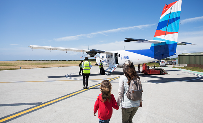 People Boarding Skybus - Land's End Airport